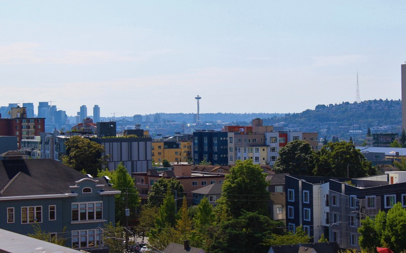 Rooftop view of the Seattle Skyline